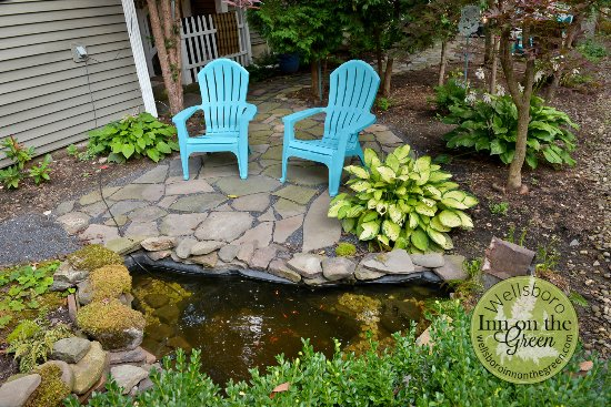 Beautiful Backyard With Fish Pond And Campfire Ring Picture Of Wellsboro Inn On The Green Tripadvisor