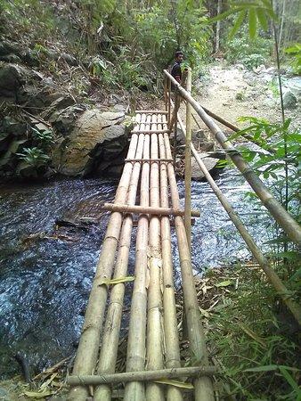 Munduk, Indonesia: De trekking ging ook over dit soort bruggetjes