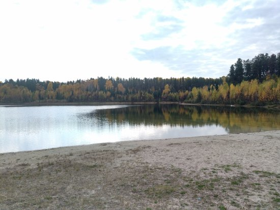 Timmins, Canada: Beautiful Autum day, exploring around Hersey Lake extensive trail options.