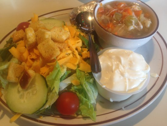 Bloomer, WI: Soup and Salad Combo with Bleu Cheese Dressing