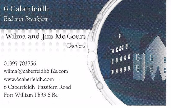 6 Caberfeidh: כרטיס הביקור של הפנסיון