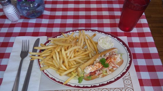 Deer Island, Canada: Lobster Roll with a thick long squirt of straight Mayo.