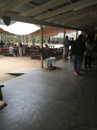 Национальный парк Крюгера, Южная Африка: Afsaal coffee stop INSIDE of Kruger National Park (with no fenced perimeter)!
