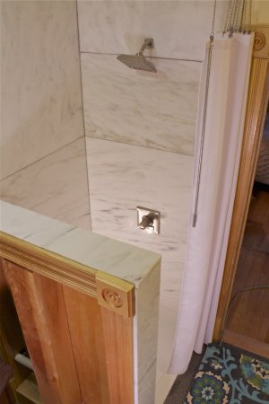 West Wing marble shower