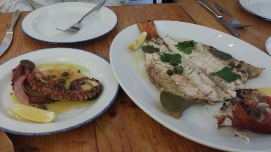 Mamakas: Red snapper; octopus