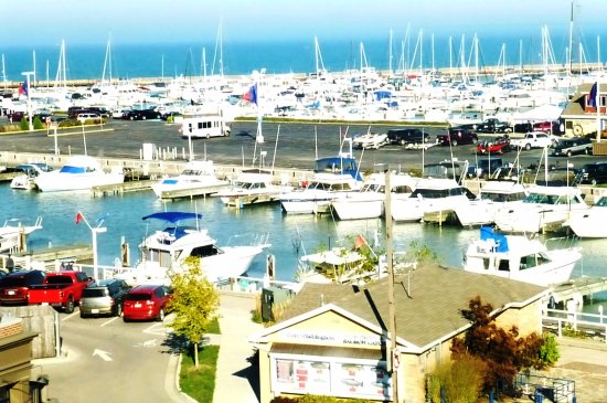 Port Washington, WI: Beautiful view of yachts and sail boats in the harbor