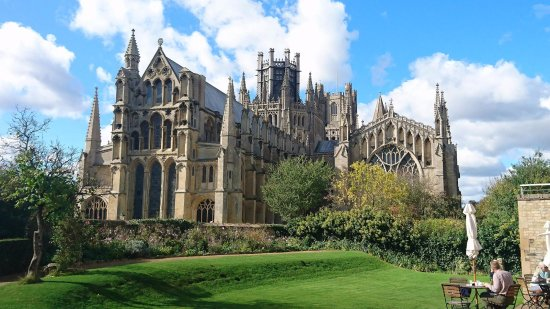 Ely, UK: The Cathedral from the onsite Cafe