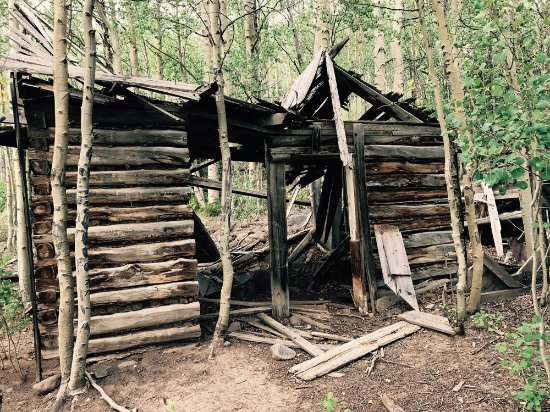 Bachelor Mining Town: Cabin remains of old mining town near Creede, CO.