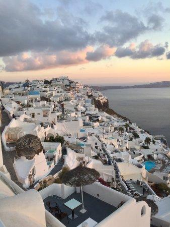 Villa Ilias Caldera Hotel: View from the pool balcony