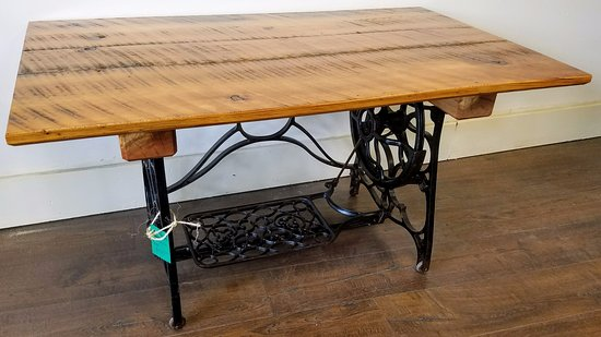 Pittsfield, MA: Short Sewing Table Reclaimed Lumber