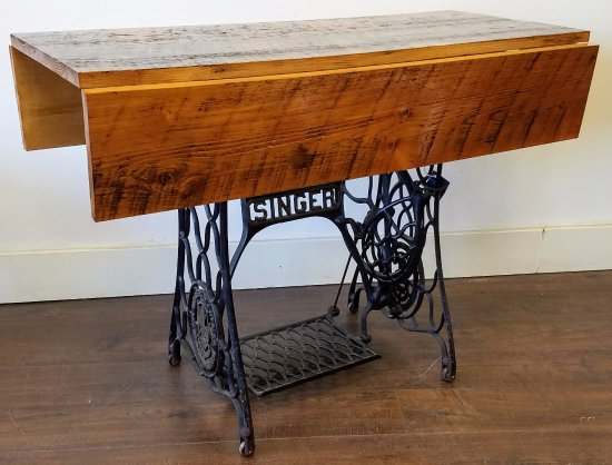 Pittsfield, MA: Sewing Table Drop Leaf Reclaimed Lumber