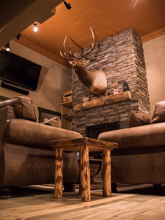 Elk Ridge Brewing Company: The atmosphere is comfortable, with the bar, high top tables, as well as couches to lounge in.
