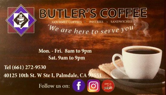 Palmdale, CA: Butler's card