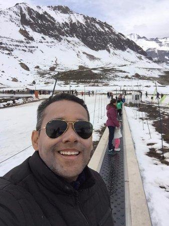 Farellones, Chile: Me preparando para descer no skibunda
