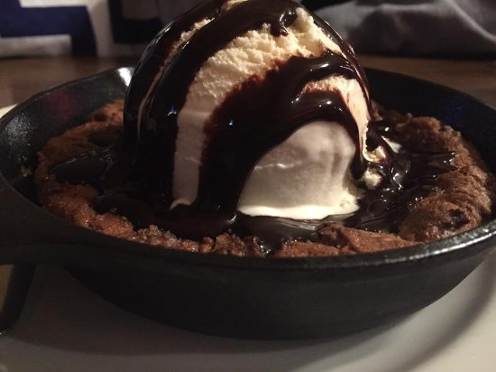Chesaning, MI: The Back Forty makes the most delicious WARM Skillet Cookies - they are a MUST TRY! Yum