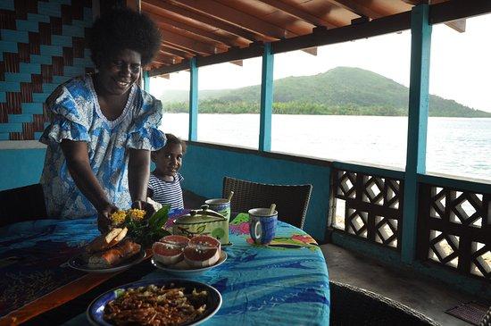 Остров Нгуна, Вануату: fresh organic island food
