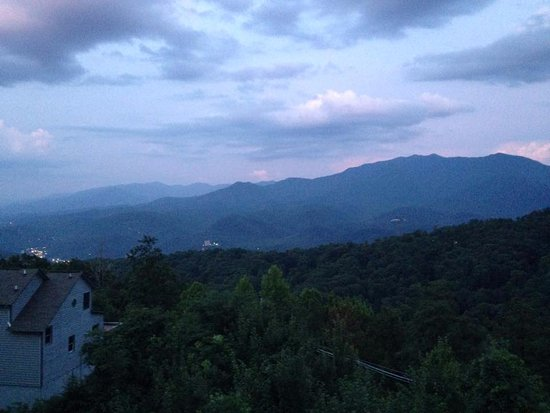 The Summit of Gatlinburg: this was from our balcony at sunset
