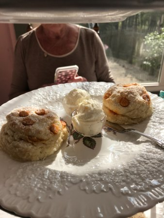 Waynesville, OH : Salted Caramel Scone with Chantilly Cream
