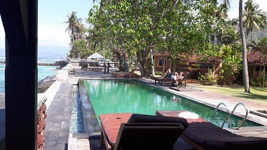 D'Tunjung Beach Resort : Uitzicht vanuit het restaurant..