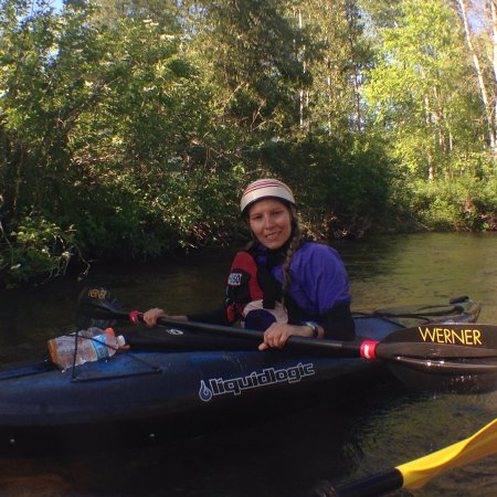 Wolverine, Мичиган: Costa Rican friend first time kayaking