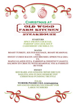 Essington, UK: christmas fayre menu