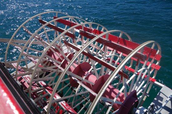 Zephyr Cove, NV: Schaufelrad der MS Dixie II (ist aber nicht der einzige Antrieb)