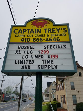 Captain Trey's Crabs & Seafood: Find us here!