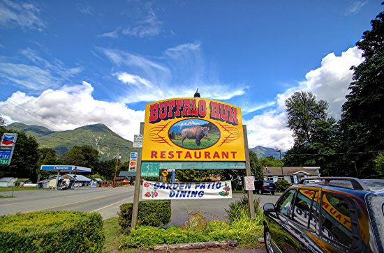 Marblemount, WA: Buffalo Run Restaurant Sign