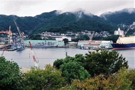 Glover Garden: 長崎の港。