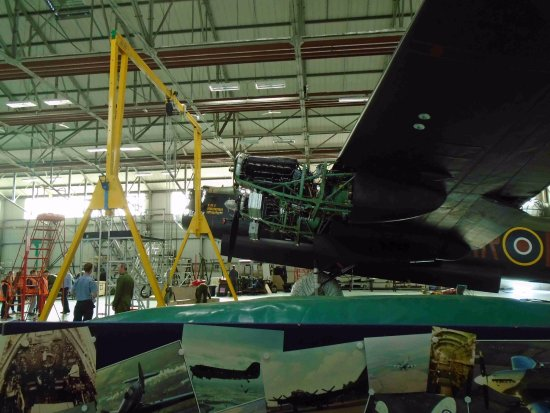 Coningsby, UK: Lancaster undergoing winter servicing