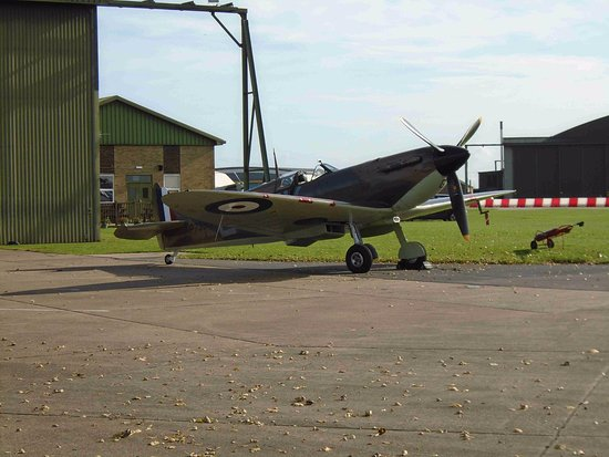 Coningsby, UK: Spitfire ready for flight