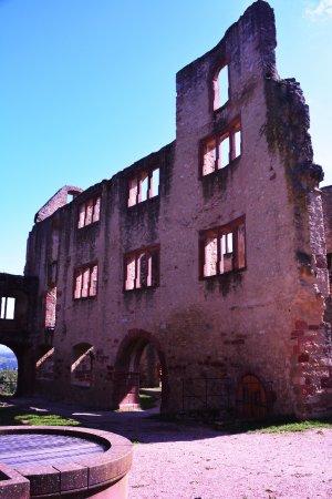 Oppenheim, Tyskland: Burgbrunnen und Palas