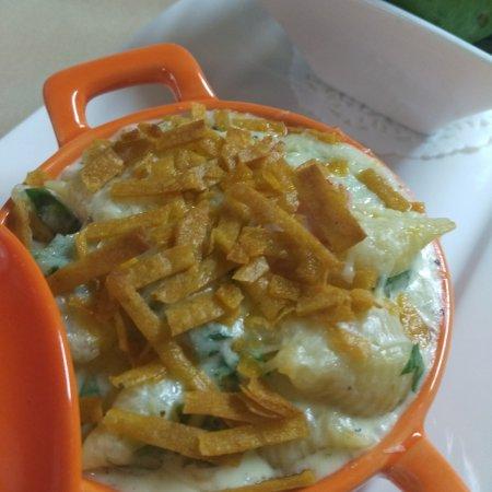 Shrimp and Spinach Mac n cheese