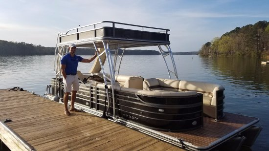 Eatonton, GA: Double-Decker Boat with Water Slide optional Captain