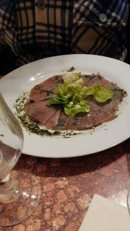 Menetreol-sous-Sancerre, Frankreich: carpaccio de thon
