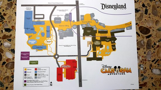 California Adventure Park Map - Picture of Disney's Grand ... on