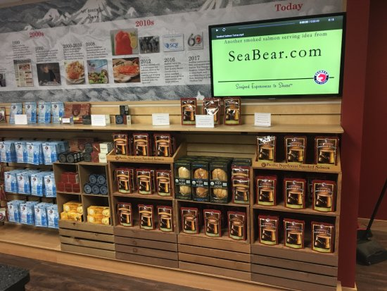 Anacortes, WA: Newly remodeled SeaBear Smokehouse experience.