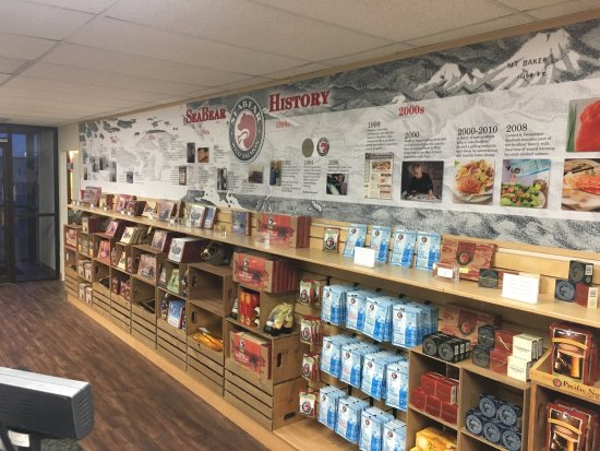 Anacortes, WA: New for 2017!  Fully updated store with SeaBear History timeline.