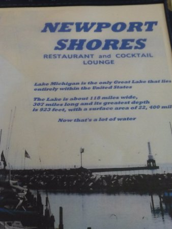 Port Washington, WI: Menu cover