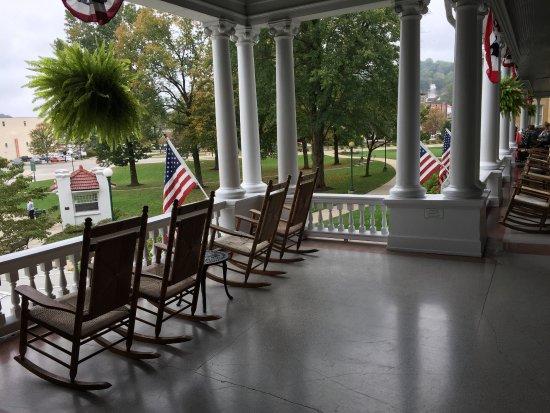 West Baden Springs, IN: Enjoy rocking on one of the beautiful porches!