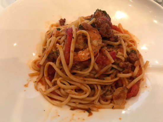 Cucci: Linguine with shrimp and sausage