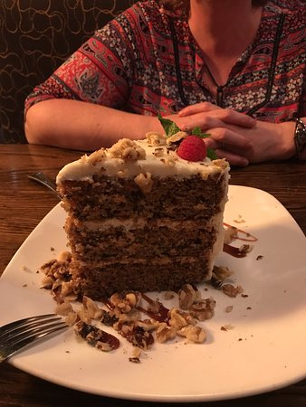 """Kona Grill - Omaha : The """"it's the size of Texas"""" carrot cake - NO LIE :)"""