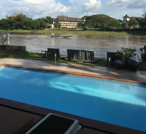 River Rai Residences : River view from private pool villa