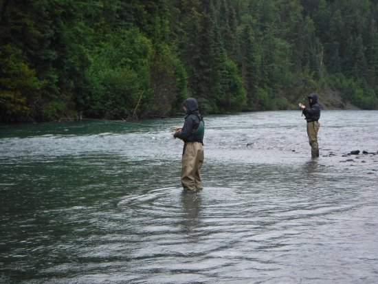 Cooper Landing, AK: Time for wading.
