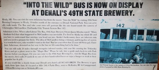 "Хили, Аляска: Info on ""Into the Wild"" film replica bus"