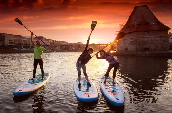 Maribor Paddle Boarding Tour with Lesson and Funny Challenges