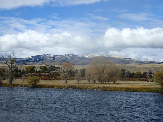 Twin Bridges, MT: from the boat fishing the Madison River, MT