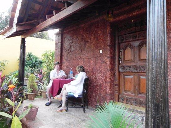 Anjuna, Indien: balcony Heritage room