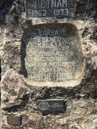 Horsham, Australia: Korea Borneo Malaya plaque