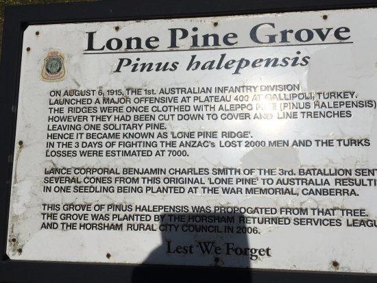Horsham, Australia: Lone Pine memorial plaque